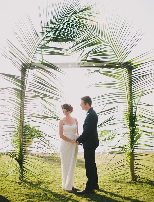 giant palm backdrop | photo by by Jamie of Rad + In Love