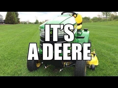 John Deere X300 Riding Tractor - YouTube