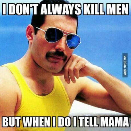 Queen and Freddie Mercury.