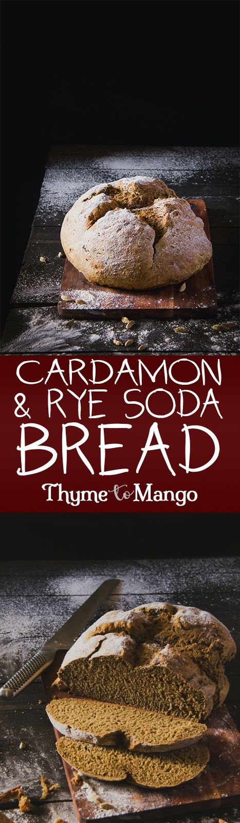 Irish and Swedish cuisines collide into a delicious cardamon infused rye soda bread.
