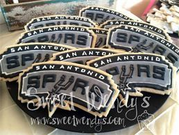 San Antonio Spurs Cookies. Go Spurs Go - Sweet Wendy's