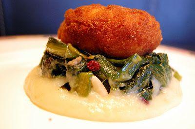 La Tarantolata-Valdostana di rana pescatrice con crema di patate e scarola-