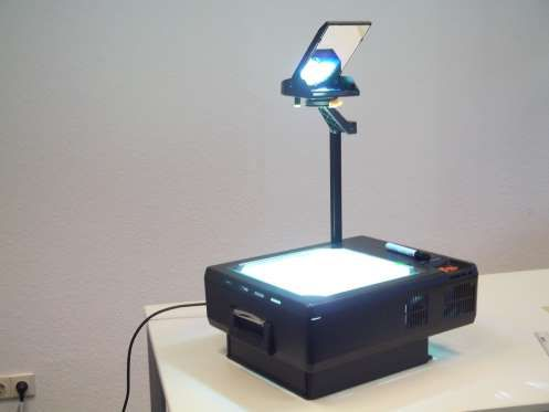 A classroom classic, the overhead projector was a simple yet wonderful system for projecting images,... - Wikipedia
