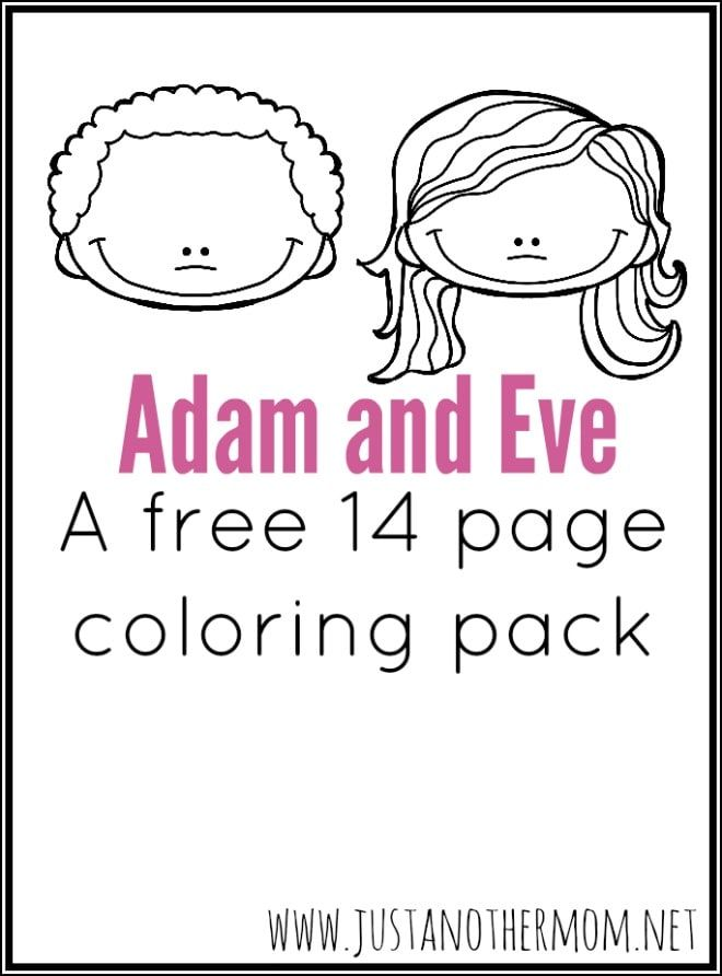 Meant to complement my Adam and Eve mini pack, I've made an Adam and Eve coloring pack, packed with 14 fun pages.