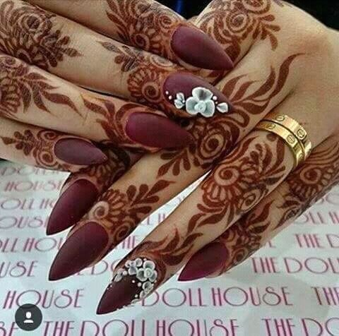 Check out this post - Mehndi art.. 😉😉  on mehandi, nailcolour, nailart created by Zainab Ayman and top similar posts on mehandi, nailcolour, nailart, trendy products and pictures by celebrities and other users on Roposo.