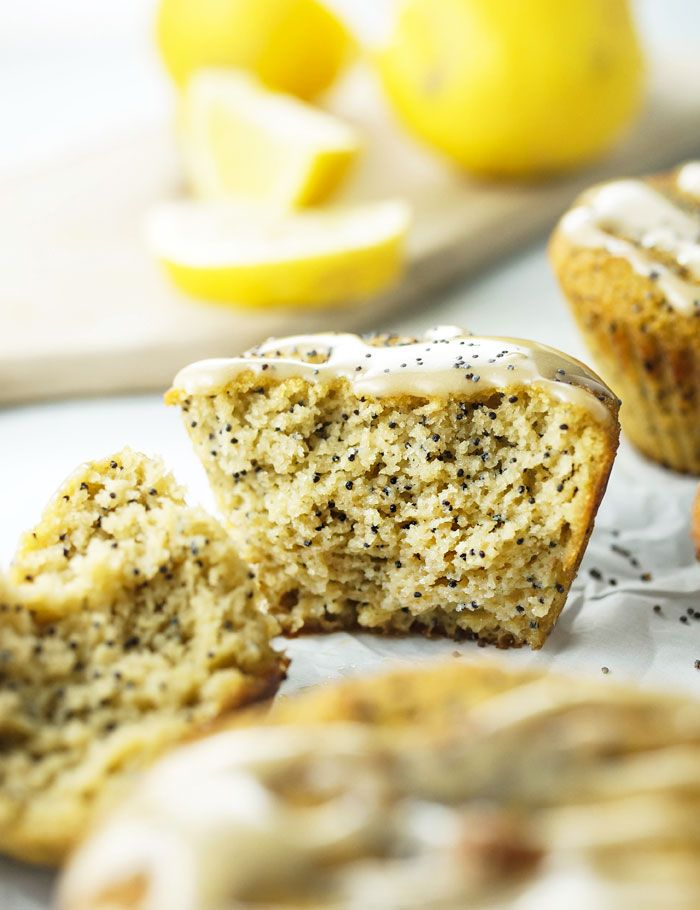 low carb + vegetarian / Coconut Flour Lemon Poppy Seed Muffins