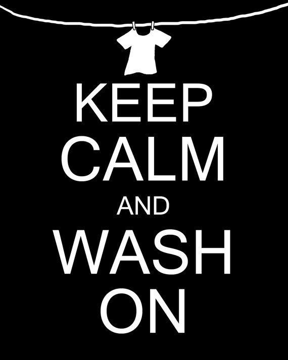 Keep Calm and Wash On Laundry Room Wall Decor Art door MyPoshDesigns