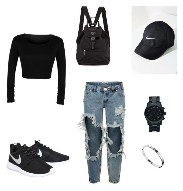 """""""Untitled #11"""" by dededeea1998 on Polyvore featuring NIKE, One Teaspoon, Michael Kors and Cartier"""