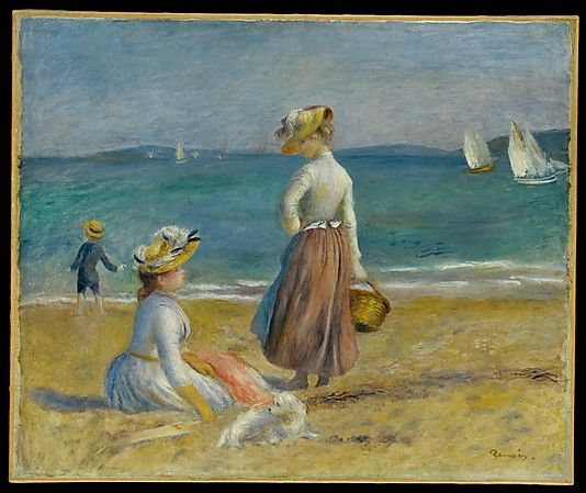 Auguste Renoir (French, 1841–1919). Figures on the Beach, 1890. The Metropolitan Museum of Art, New York. Robert Lehman Collection, 1975 (1975.1.198)