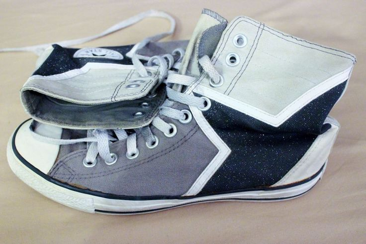 Converse Chuck Taylor Sneakers All Star Shoes Sz 7 9 Grey White Black Hi Tops  #Converse #Athletic