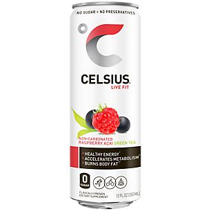 Celsius Green Tea - Raspberry Acai (4 Drinks)  by Celsius at the Vitamin Shoppe