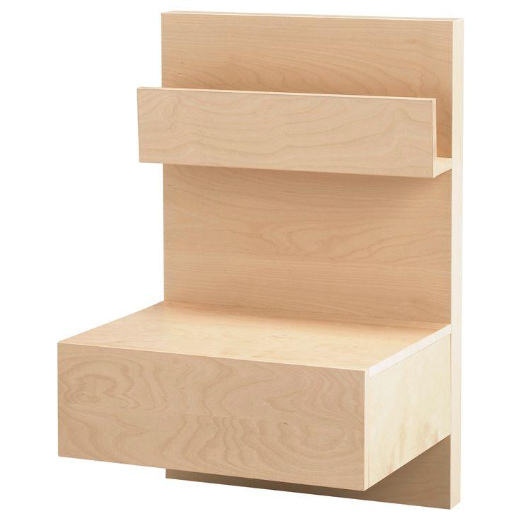 malm nightstand birch veneer ikea for ryder 39 s room i. Black Bedroom Furniture Sets. Home Design Ideas