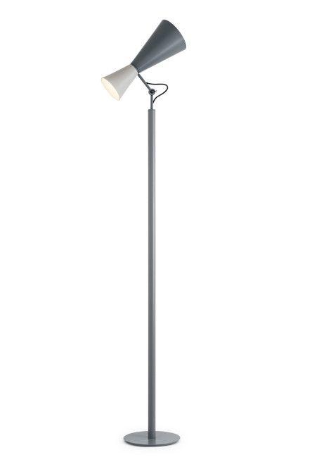Торшер напольный из алюминия, окрашеного в матовый белый и серый или черный и желтый от дизайнера Ле Корбюзье