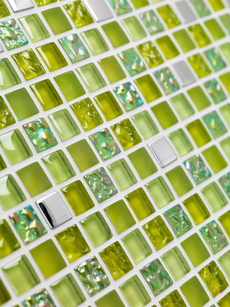 Konradssons Kakel Lagos lima grön glasmosaik 1,5x1,5 mm (nät 30x30 cm)   Stonefactory.se
