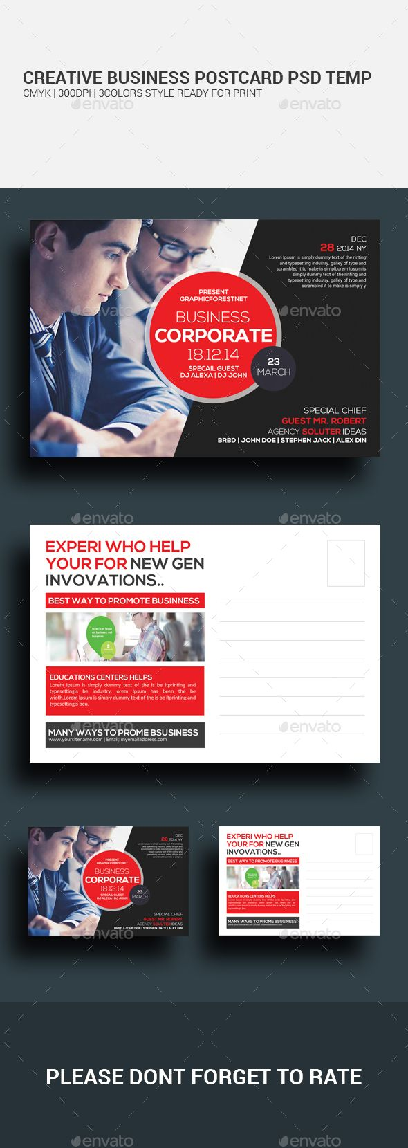 Marketing Corporate Business Postcards