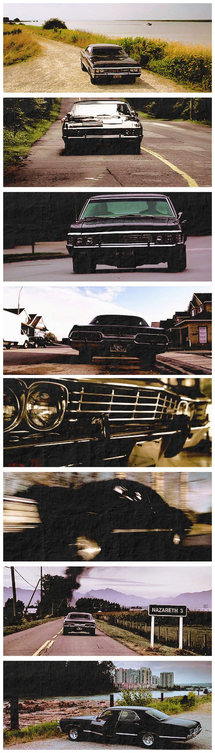 Dean's Baby. 67 Chevy Impala. Supernatural. It's gorgeous, I love it so much.