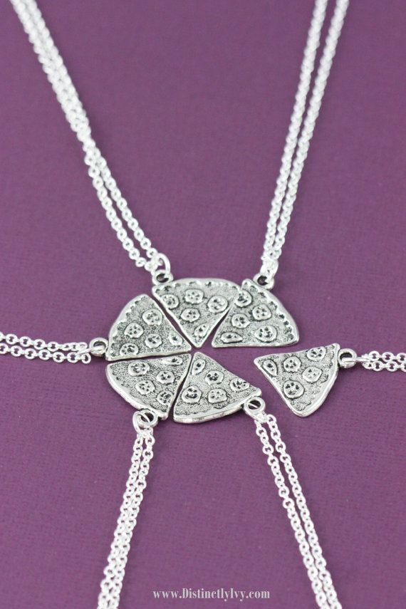 SALE Pizza Necklaces Friendship Necklace Best by DistinctlyIvy
