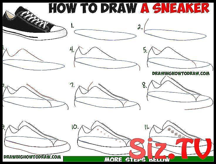 How To Draw Sneakers Shoes With Easy Step By Step Drawing Tutorial For Beginners How To Draw Sne Desenho Para Iniciantes Tutoriais De Desenho Desenhar Labios