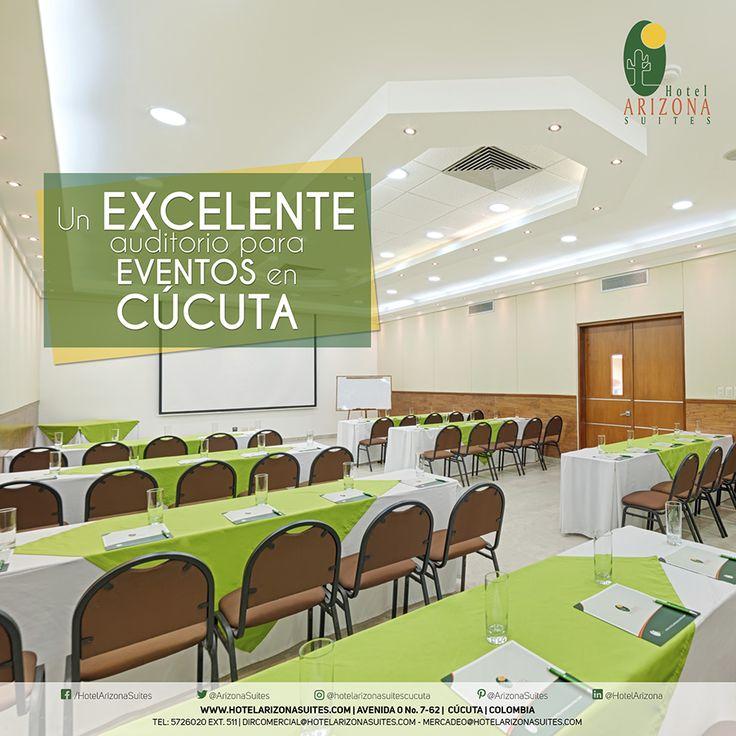 Nuestro #Auditorio para eventos llamado #SalónÓnix, está ubicado en el primer piso del Hotel Arizona Suites, contiguo al Salón Diamante. Cuenta con un área de 73.7 mts2, y permite una acomodación de hasta 100 personas en auditorio. 👨💼 Ideal tanto para celebraciones corporativas y sociales. ✨ ¡Recién remodelado, cómodo y privado! 😉✅ #EventosenCúcuta #Eventos #Salones #Hotel #Arizona #Suites #HotelArizonaSuites #Cúcuta #Colombia