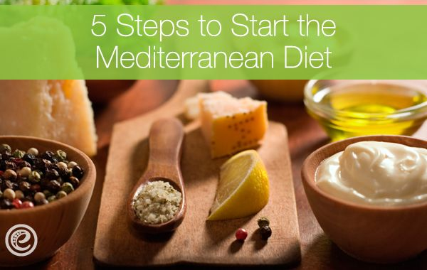 5 Simple Steps to Start the Med Diet. #Mediterranean