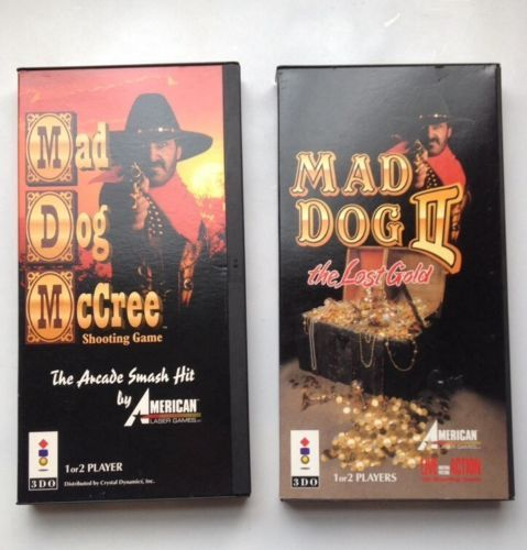 Mad Dog McCree & Mad Dog McCree 2 The Lost Gold Complete In Long Boxes 3DO REAL