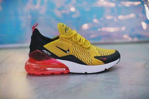 Fashion Nike Air Max 270 Yellow AH8050-706 Mens Sportswear Sneakers ... cac538c4a