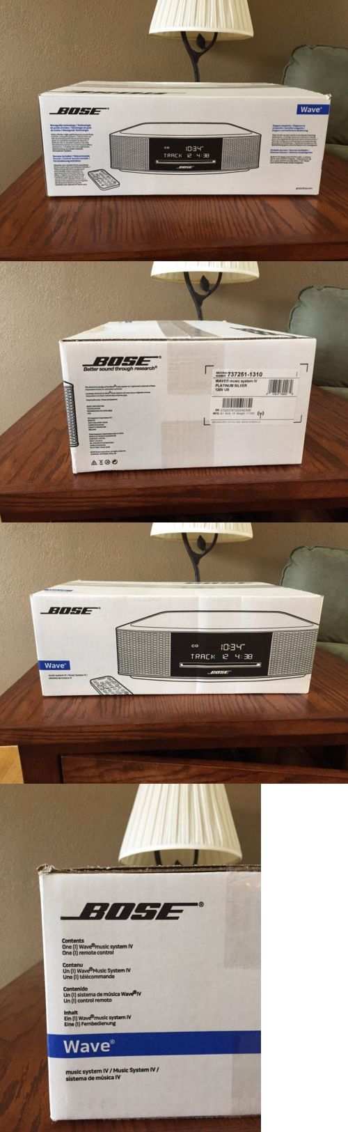Compact and Shelf Stereos: Bose Wave Music System Iv - Cd Player And Radio - New In Box Never Opened!!! -> BUY IT NOW ONLY: $430 on eBay!