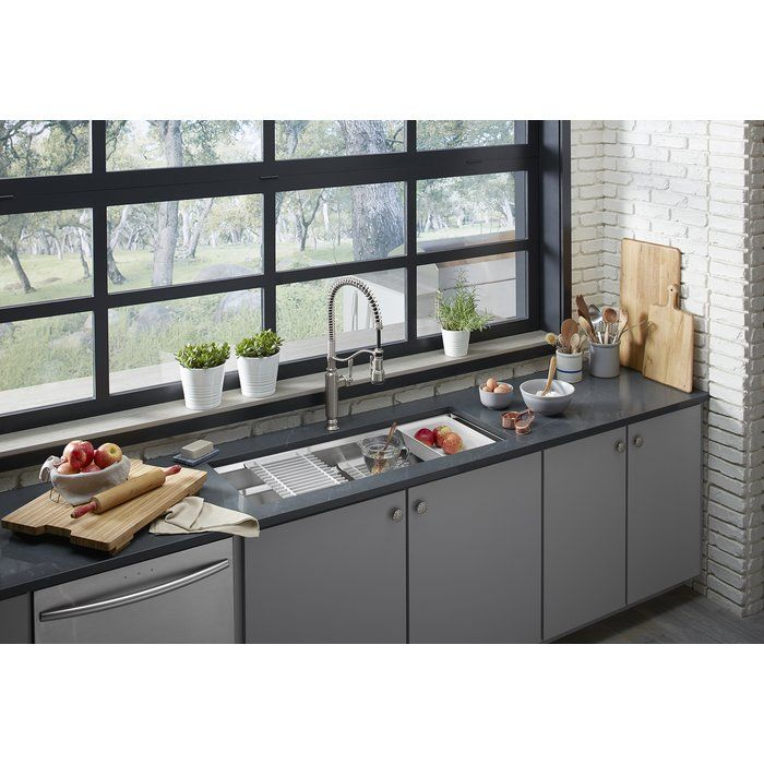 Prolific 44 In X 18 1 4 In X 10 In Under Mount Single Bowl Kitchen Sink With Accessories In 2021 Single Bowl Kitchen Sink Kitchen Remodel Undermount Kitchen Sinks