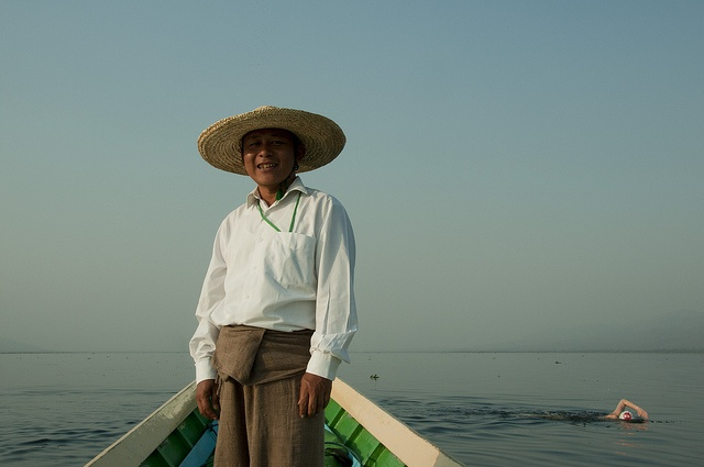 Our guide Win, at Lake Inle, Burma via Flickr.