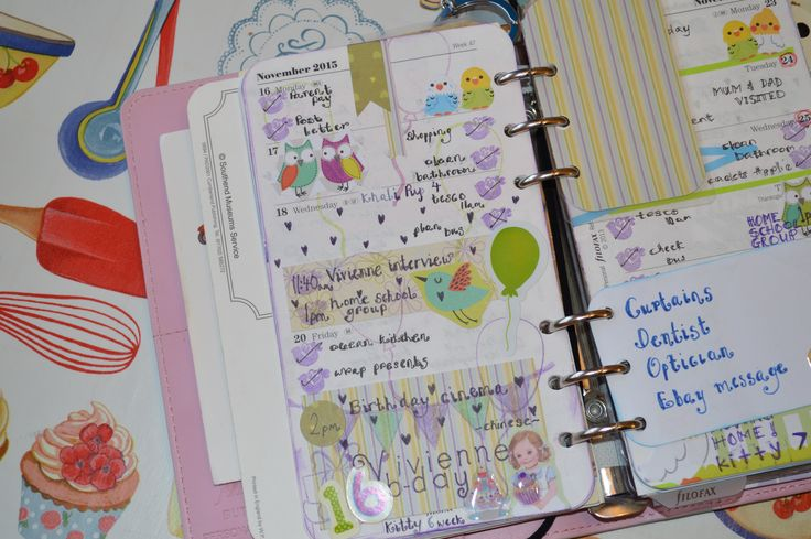 Week 47 used filofax planner 2015