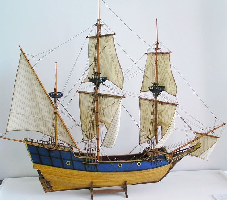 Ships Canada Us Wide Wood Sign: A Model Of Champlain's Ship, The 'DON DE DIEU'. In 1608
