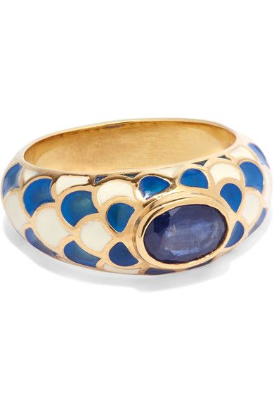 Percossi Papi - Gold, Sapphire And Enamel Ring - 7