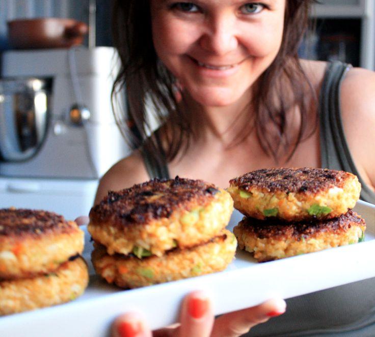 Oppskrift Lunchkaker Vegetarburger Veganburger Ris Blomkål Gulrot Enkle Sunne Hjemmelagde Burgere