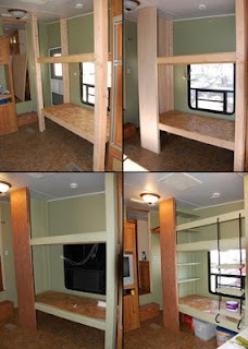it says for a camper, but i think it would make great bunk beds for a boys room.