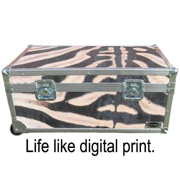 Safari Zebra XXL ATA College Footlocker with Recessed Wheels and Tray | FREE SHIPPING