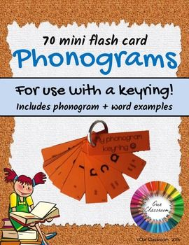 Phonograms - Spalding – Mini flash cards for KEY RING. A fantastic way for students to learn their phonograms in a fun and different way!