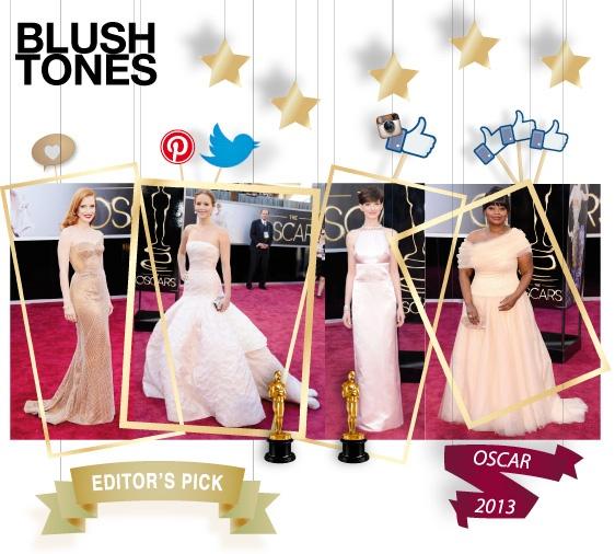 Blush tones - editor's pick - shopthemagazine.com #oscars2013