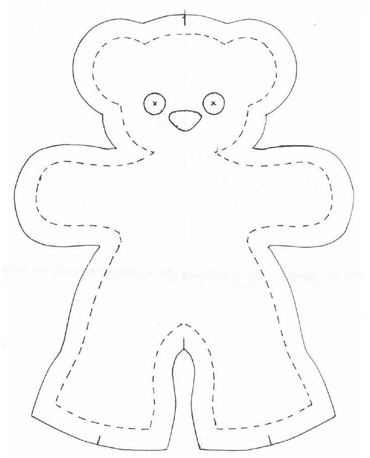 beau patron gratuit d'ours en tissus