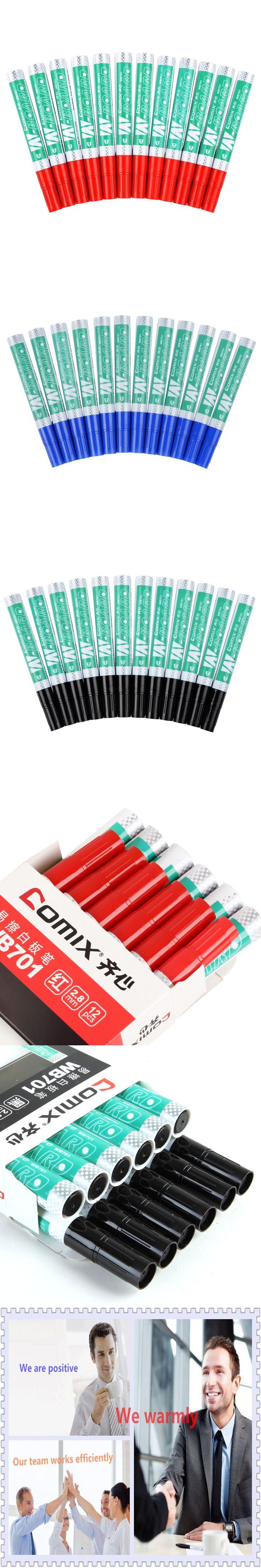 Office Supplies 12pcs  Dry Wipe Whiteboard Marker  Erasable Whiteboard pen