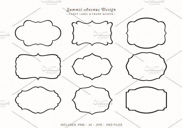 Fancy Frames & Label Shapes by Summit Avenue on @creativemarket
