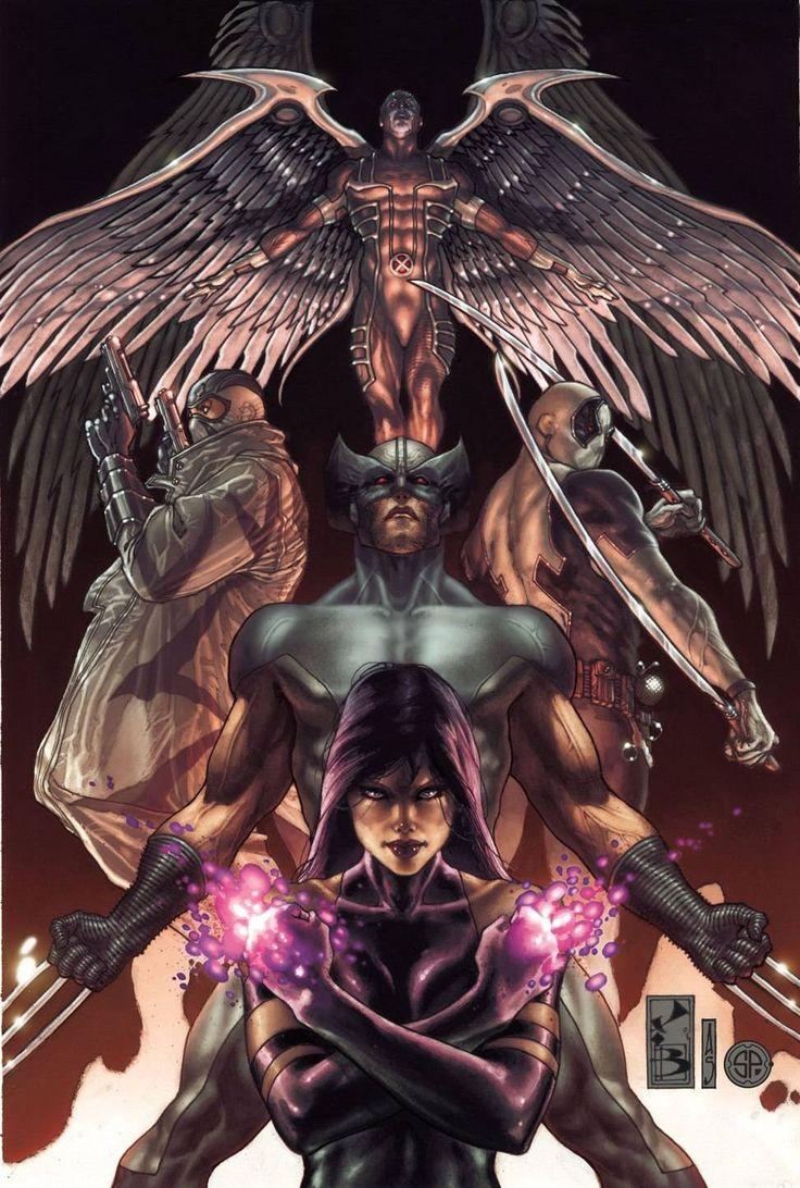 X-Force - Archangel - Fantomex - Wolverine - Deadpool - Psylocke