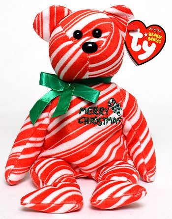 2007 Holiday Teddy (red) - bear - Ty Beanie Babies