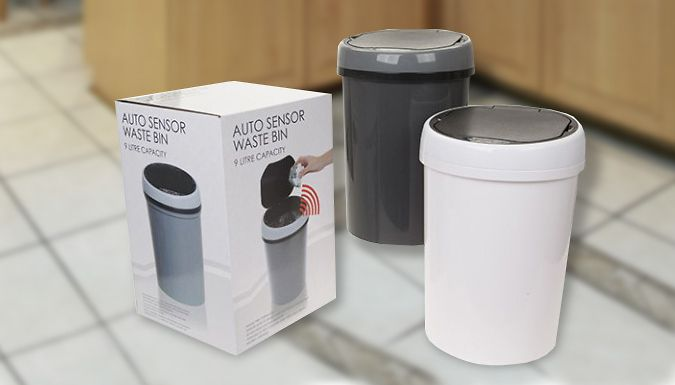 9L Sensor Bin There's no need to touch dirty bin-lids again with a Sensor Bin      Bins open when the sensor is activated      Battery-powered with 9 litre capacity      Supplied in 2 colours      Great if you have kids around      Simple yet stylish design to suit all homes      Save 50% on Sensor Bin at just 24.99 pound instead of 49.99 pound BUY NOW for just GBP24.99 Check more at http://nationaldeal.co.uk/9l-sensor-bin/