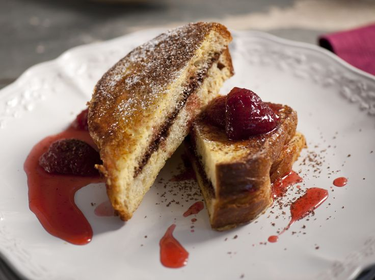 Chocolate Mascarpone Stuffed French Toast with Strawberry Syrup | Rec ...