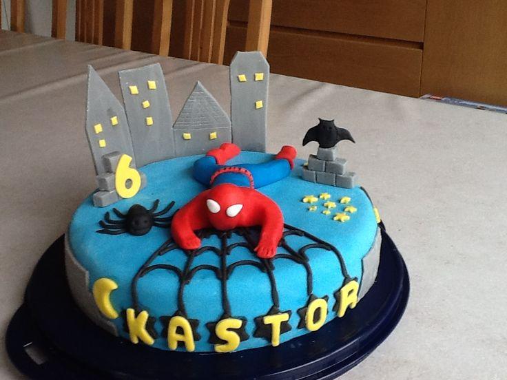 Verjaardagstaart van Superman voor Kastor