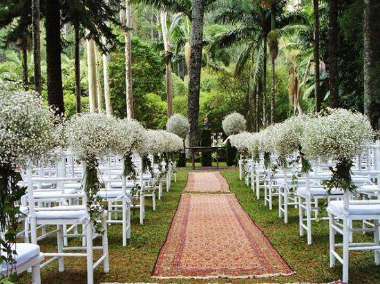 Como fazer decoração para um casamento ao ar livre