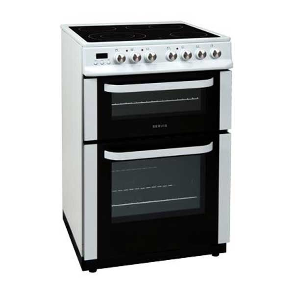 Servis DC60W 60cm Electric Cooker With Double Oven