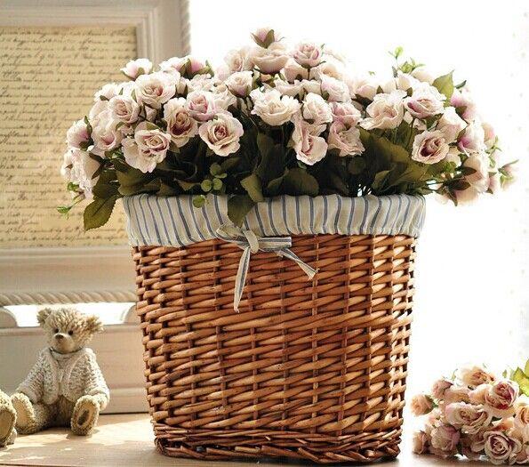 контролю картинки плетеных корзин с цветами такое