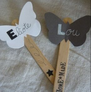 Des marque-places papillon - DIY : Beautiful butterfly place cards ! - Pure Sweet Home
