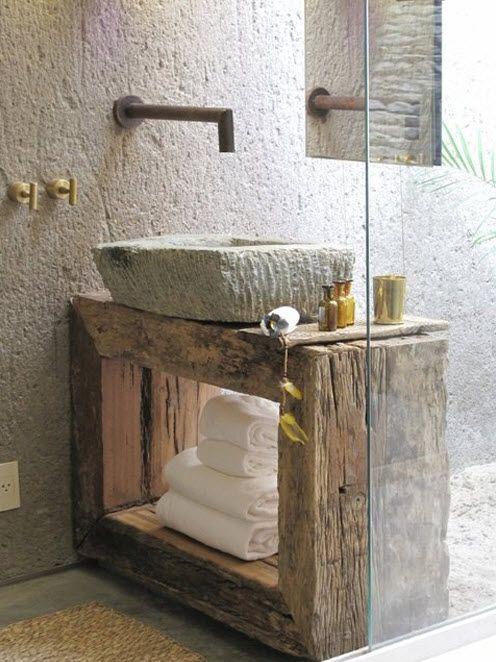 Cuarto de baño reciclado